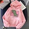 Kawaii Dinosaur Graphic Hoodies Women Funny Winter Warm Cartoon Frog Streetwear Ladies Ullovers Tops Anime Sweatshirts Female 1