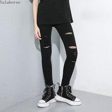 New Arrivals 2019 Trend Black styles Autumn Elastic pencil pants for women fashion streetwear Trousers A71Z40