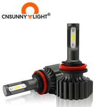 CNSUNNYLIGHT H4 H7 Slim CSP LED Car Headlight Bulbs H11/H8 H1 9005 9006 H13 9004 H27 H3 42W 7000Lm 5500K Auto Headlamp Fog Light