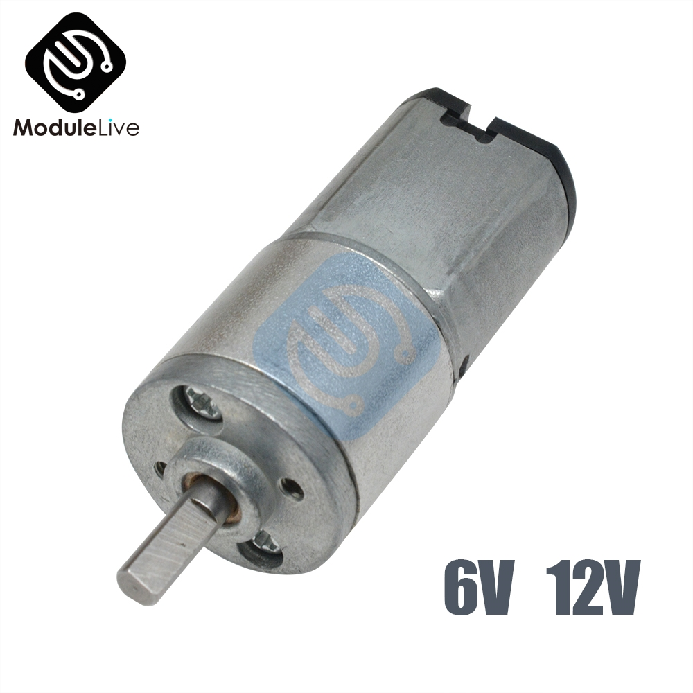 16GA-030 DC 6V 12V 30 60 100 <font><b>150</b></font> <font><b>200</b></font> 300 RPM Micro Speed Gear Motor Reduction Gear Motors With Metal Gearbox Wheel Diy image