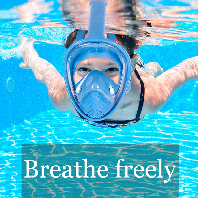 Children Snorkel Diving Mask for kids Swimming Training Full Face Mask Scuba Equipment mergulho For Gopro Free Breath Gear Tube 5