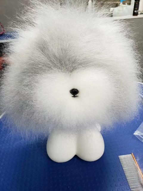 Darmowa wysyłka narzędzie do pielęgnacji zwierząt Groomer przycinanie praktyka model futro psa teady głowa misia peruka tylko (bez manekina)
