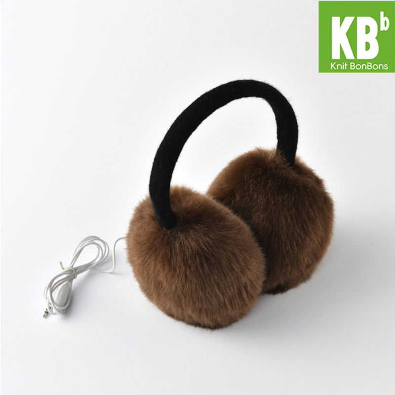 2018 KBB Spring   Winter 4 Colors  MP3 Music Headphone Women Lady Children Men Knit Warm Fashion Faux Fur Winter Plush Earmuffs