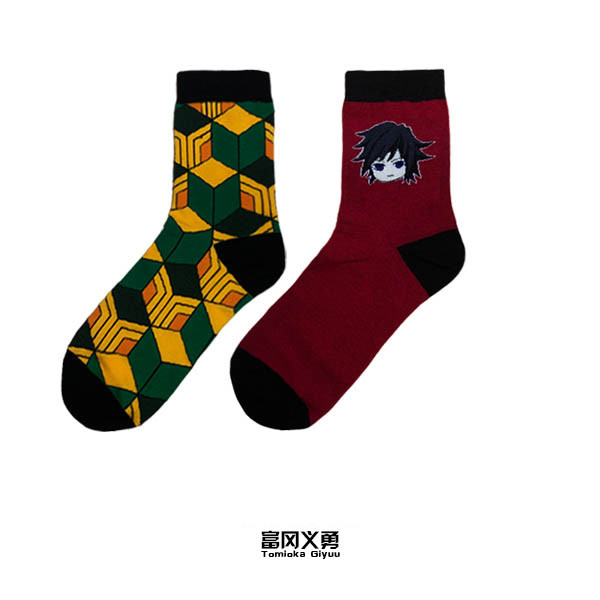New Demon Slayer Kimetsu No Yaiba Hashibira Inosuke Cosplay Props Sock Agatsuma Zenitsu Women Men Cotton Ankle Socks Stockings