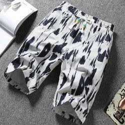 Летние модные популярные мужские повседневные шорты с принтом, трендовые шорты 001, 2020