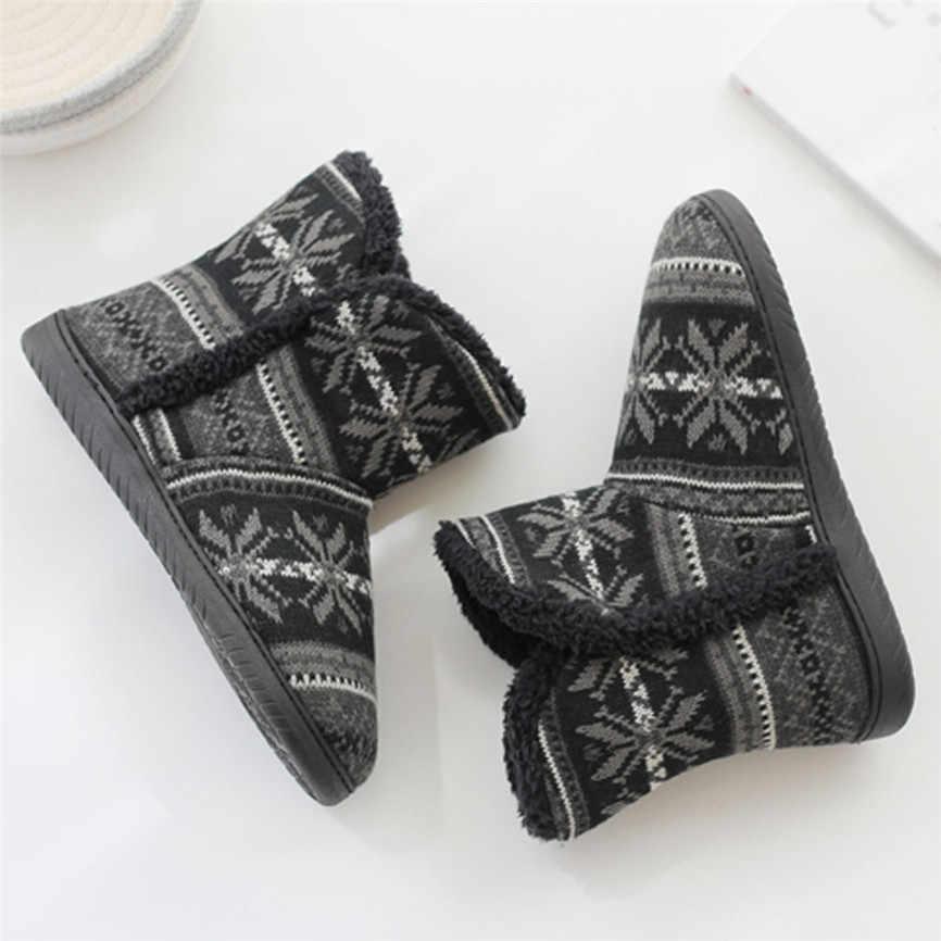 Weibliche Baumwolle Stiefel rutsch Winter Paar Modelle Home Weiche Warme Winter Zu Hause Stiefel Dicke Baumwolle Innen Boden Plüsch schuhe 2019 40