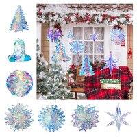 De película 3D copos de nieve adornos de Navidad, adornos navideños para el hogar falsa nieve Frozen cumpleaños de invierno en el país de las Maravillas decoración de la fiesta