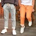 Летние детские штаны DIIMUU для маленьких мальчиков, детская одежда, хлопковые брюки для мальчиков и девочек с эластичным поясом, стильные дли...