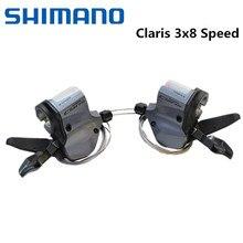 Shiman0 claris 2400 road bike shifters 3x8 alavancas de mudança de velocidade, triplo querdo SL-2403, direção 8 s SL-2400 com