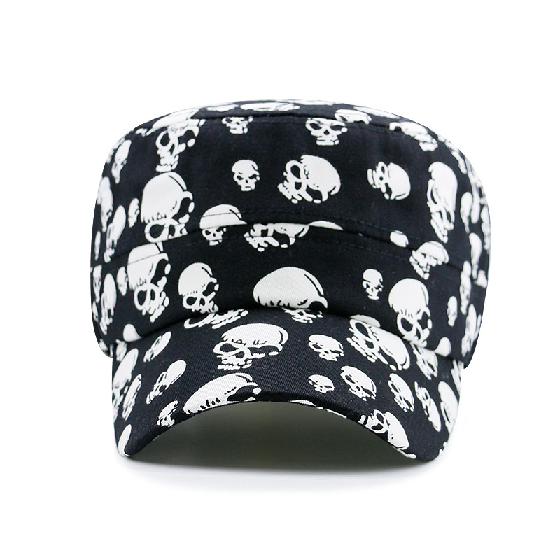 Купить бейсболка мужская с принтом черепа модная кепка плоским верхом