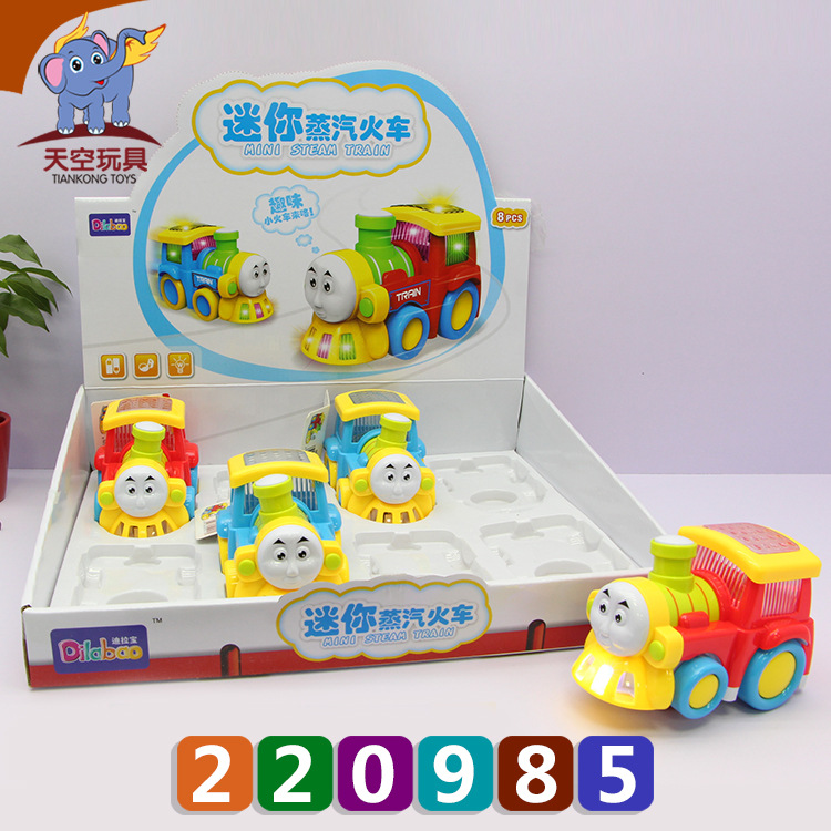 Hot Sales Children Light Music Electric Universal Mini Steam Small Train Baby Toy Electric Small Train Batch