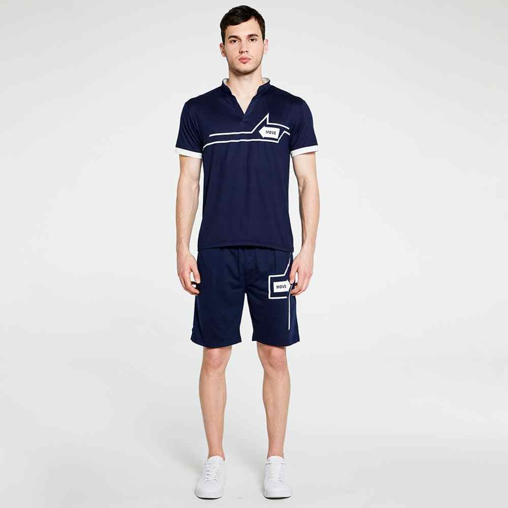 브랜드 뉴 Mens 폴로 셔츠 슬림 맞는 반소매 셔츠 폴로 정장 세트 패션 인쇄 면화 캐주얼 남성 폴로 셔츠 남성 의류