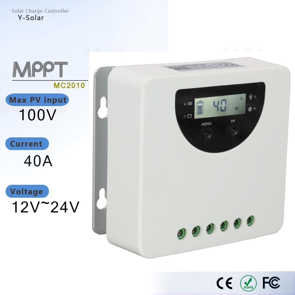 automovel 12v 24v do controlador solar da carga de mppt 20a mc2010 para o litio o
