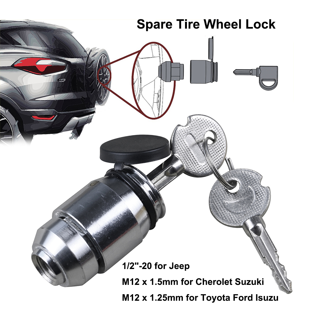 Trailer Wheel Locks 1-2 in X 20 Thread 4 Pack
