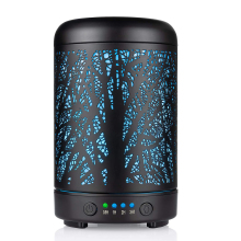 100ml Ultrasonic Air Humidifier Forest Deer Aroma Essential Oil Diffuser Hallow Metal 7 Color LED Aromatherapy Humidificador