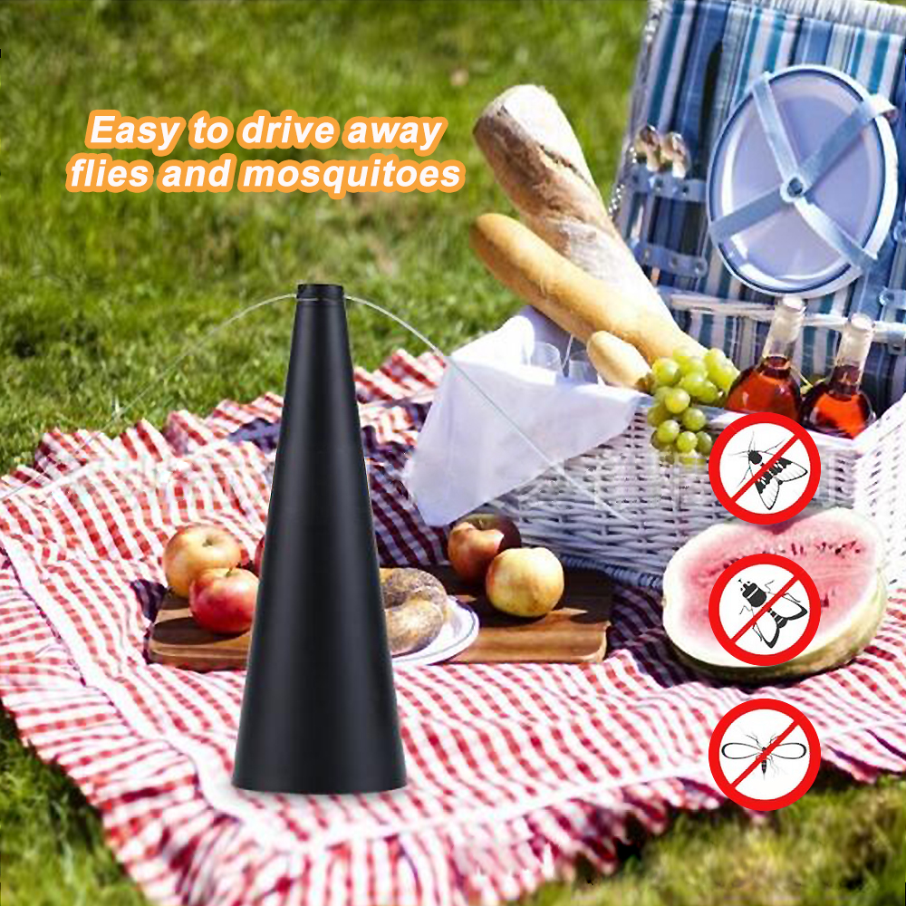 Tabletop Fly Repellent Fan Keep Fly Away From Food Indoor Outdoor Mosquitoes Insect Killer Pest Reject 3