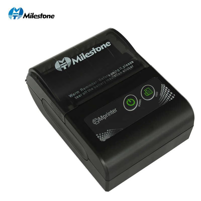 マイルストーンポータブルサーマルプリンターbluetoothレシート法案 58 ミリメートル 2 インチミニposワイヤレスwindowsのアンドロイドios携帯ポケットp10