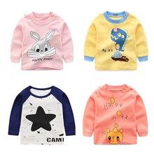Luna Blanco/Хлопковые футболки с длинными рукавами для маленьких девочек camisas bebes ninas, одежда для маленьких девочек рубашки для дня рождения с круглым вырезом, модный топ