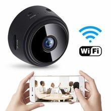 A9 bezprzewodowa kamera do monitoringu domu bezprzewodowy Wifi inteligentny aparat fotograficzny HD 1080P kryty odkryty dom mała kamera bezpieczeństwa kamery tanie tanio Dpower wireless Wideo i Audio NONE CN (pochodzenie) Brak CMOS Intelligent surveillance camera