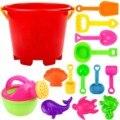 Детские пляжные игрушки 14 шт., песочные игрушки, Набор детских пляжных песковых боксов, летние игрушки для пляжа, игры в пескострую воду, дет...