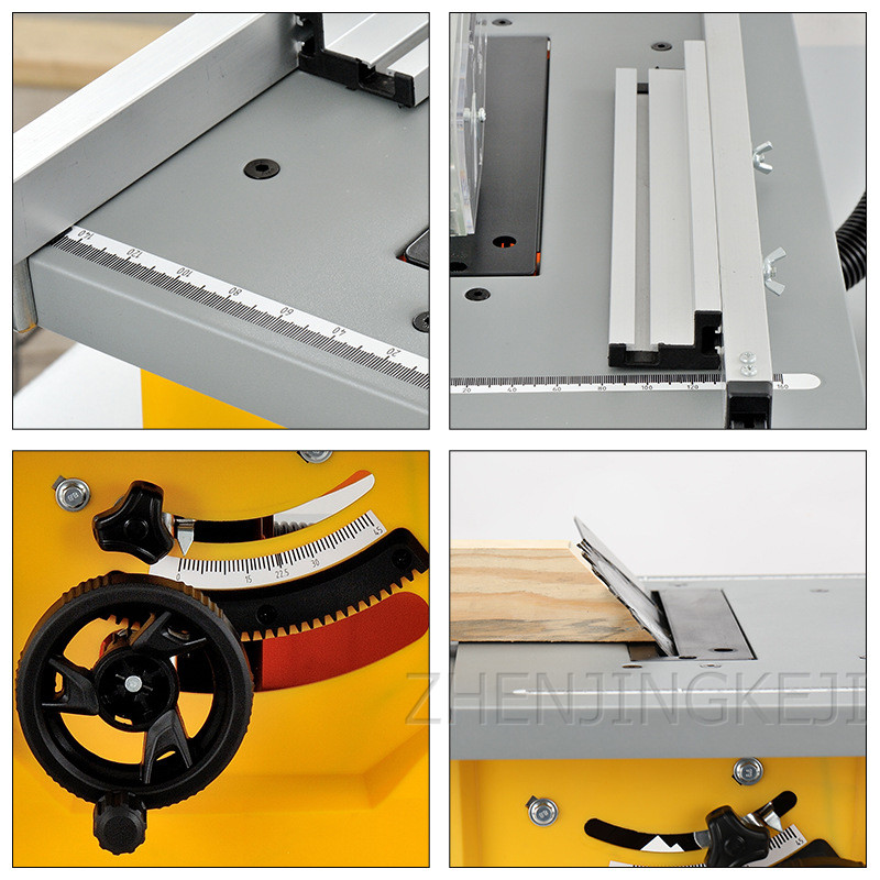 Electric 8 Inches Woodworking Table Saw Floor Saw Cutting Machine Multifunction Miter Cut Panel Saw Flip Saw Home Dust-Free Saw