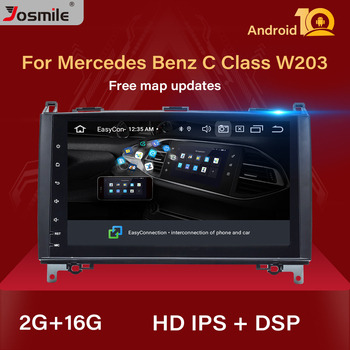 IPS DSP Android 10 Car Multimedia for Mercedes Benz B200 Sprinter W906 W639 AB Class W169 W245 Viano Vito Radio GPS Navi 2 GB image