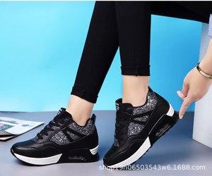 Image 2 - COWCOM Primavera delle Donne Elevati Scarpe Cuscino Daria Runningg Scarpe Traspirante paillettes spessa suola di sport scarpe casual