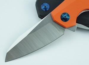 Image 3 - LEMIFSHE ZT 0456 Tactical Folding Knife G10 Handle D2 Blade Bearing Flipper Hunting Knife Pocket Camping Survival EDC Tools