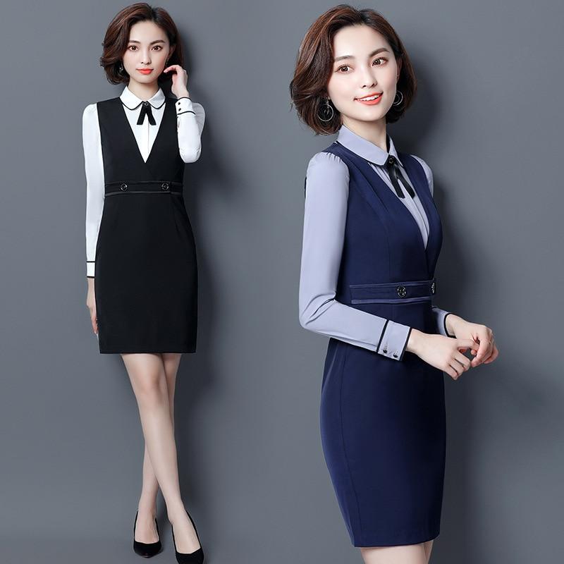 OL Work Clothes Women Dress Suit Business Suit Women's Fashion Wear Dress