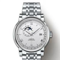 Reloj LOBINNI para hombres  importado de Japón  movimiento mecánico automático  relojes para hombres  zafiro  fase lunar  reloj a prueba de agua  5010M