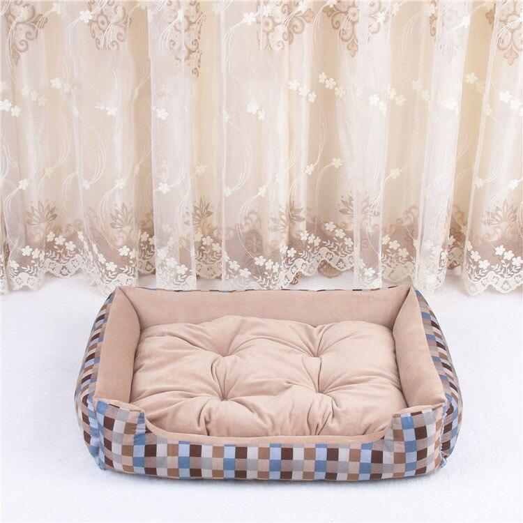 baby soft large Pet Dog Bed Cat kennel Warm Cozy Dog House Soft Fleece Nest Dog Baskets Mat Autumn Winter Waterproof Kennel 12