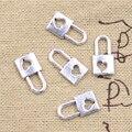 30 шт. Подвески замок огранка «сердце» 16x8 мм антикварные подвески из серебра ювелирных изделий DIY ручной Тибетский поиск ювелирные изделия