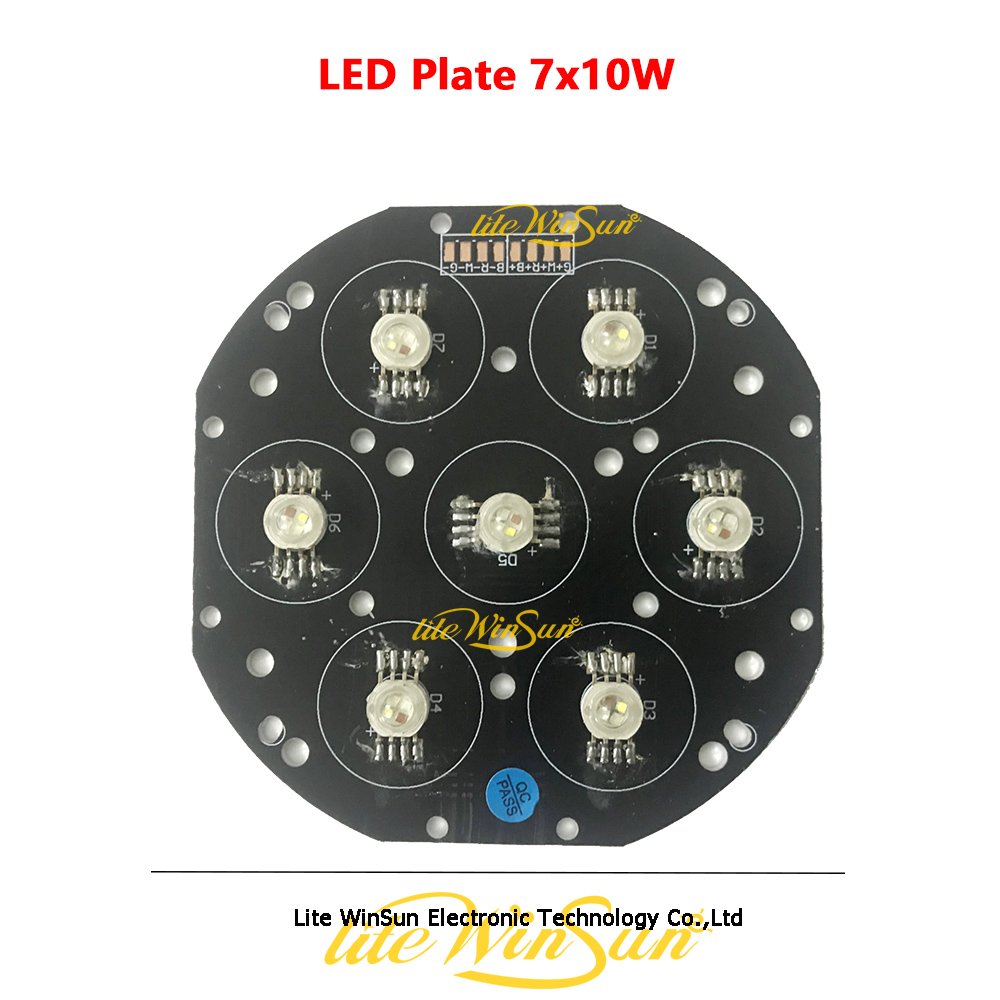 7*10W RGBW 4IN1 LED Plate For LED Moving Head Light LED Par Light Disco Bar DJ Light