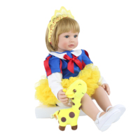 60CM silicone reborn baby girl doll with