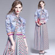 De moda Maxi vestido con rayas Chic bohemio longitud del tobillo arco solo pecho vestido Para las mujeres Vestidos Largos De Verano Para Mujer 2021