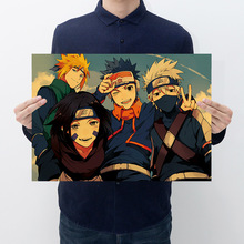 Paper Poster Decoration-Painting Wall-Sticker Naruto Kraft Bedroom Home-Supplies Retro