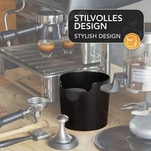 Espresso-Dump-Bin Trash-Can Coffee-Knock-Box Slag-Bucket Waste-Bin Black Portable