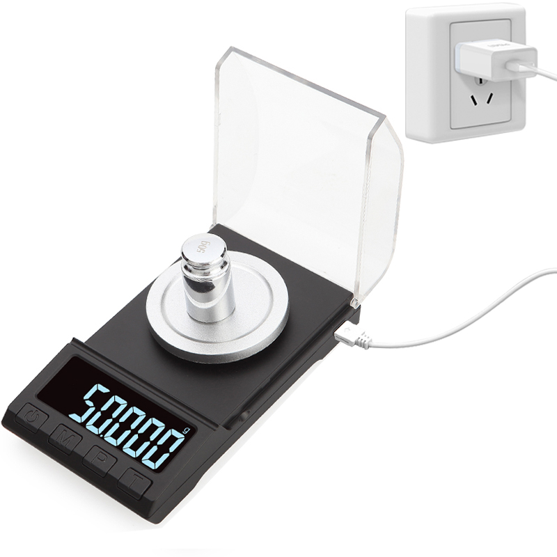 0.001g Precision Electronic Scales 100g/50g/20g Digital Weighing Gem Jewelry Diamond Scale Portable Lab Weight Milligram Scale