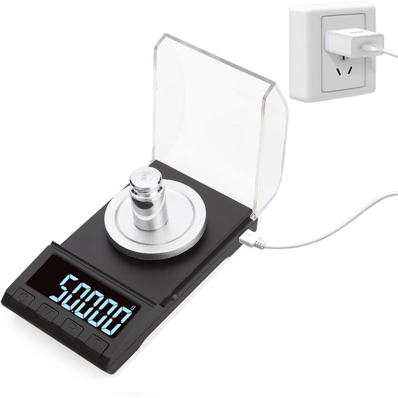 Точные Электронные весы 0,001 г 100 г/50 г/20 г, цифровые весы для взвешивания ювелирных изделий с драгоценными камнями, портативные лабораторные ...
