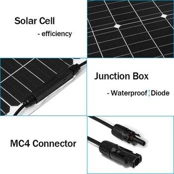 120 W/150 W/200 W/300 W Semi-Flexibele Zonnepaneel 18V 36V usb Zonnecel Diy Module Outdoor Connector Batterij Oplader Voor Rv Boot