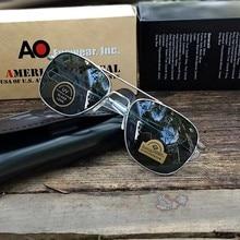 Exército americano militar optical ao 8052 óculos de sol das mulheres dos homens alta qualidade retângulo aviação óculos de condução