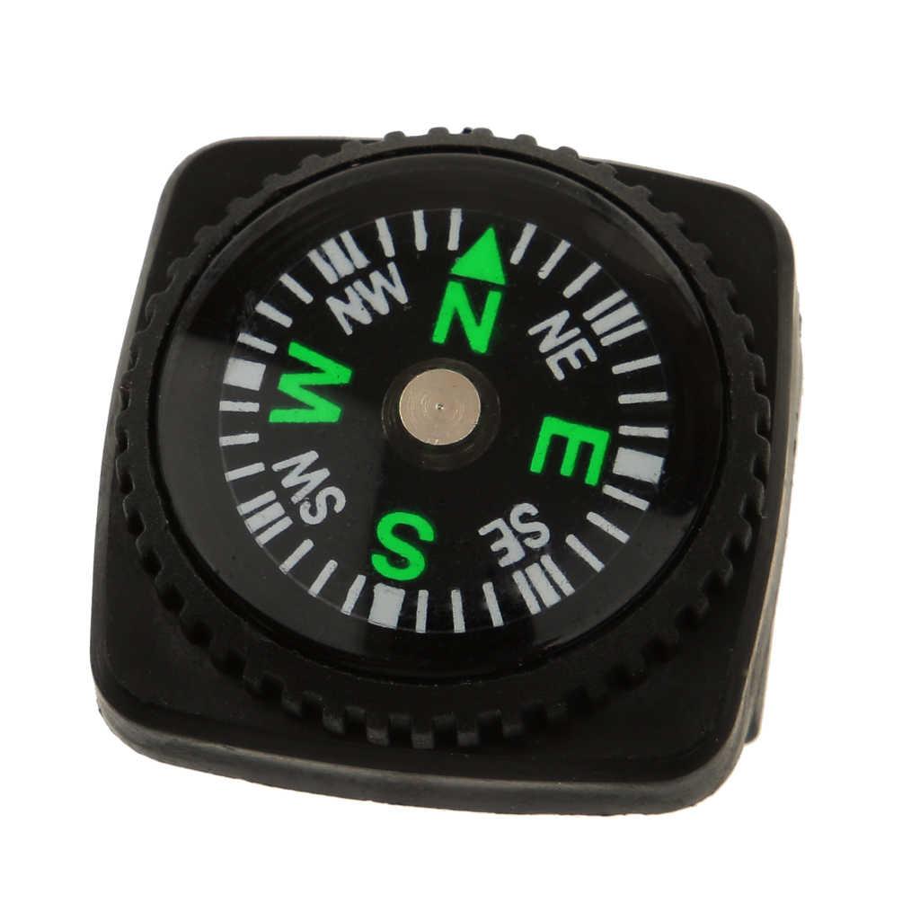 2x 黒ミニホルスター時計バンドコンパス Paracord ブレスレットキャンプ Travell アクセサリー