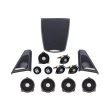 Audio-Kit Upgrade Bmw F10 Tweeter-Cover-Set Loudspeaker Dashboard Car-Door Music-Stereo
