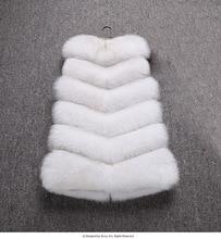 Korean Faux fur stitching long vest version of the imitation fox grass new female
