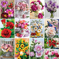 5D DIY Diamond Painting Flower Vase Cross Stitch Kit Full Drill Embroidery Mosaic Rose Picture Of Rhinestones Gift Home Decor
