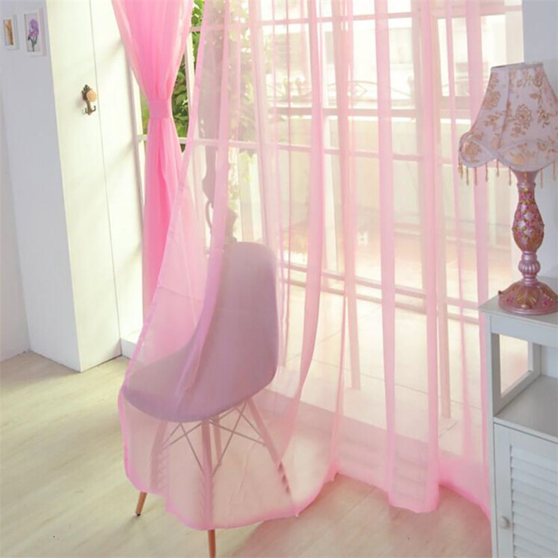 100*270cm Modern Window Curtain Home Wedding White Tulle Curtains For Living Room Bedroom Bathroom Polyester Window Screen Decor
