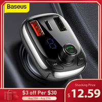 Baseus FM Transmitter Bluetooth 5,0 Car Kit Audio MP3 Player Mit PPS QC 3,0 QC 4,0 5A Schnelle Ladegerät auto FM Modulator