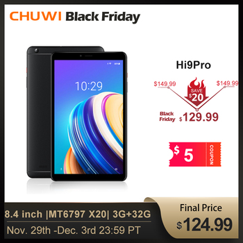 CHUWI Original Hi9 Pro Android 8.0/8.1 tablette MT6797 X20 Deca Core 3GB RAM 32GB ROM 2K écran double 4G tablette 8.4 pouces