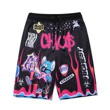Шорты в уличном стиле, мужские летние пляжные шорты в стиле хип-хоп, бермуды в стиле панк