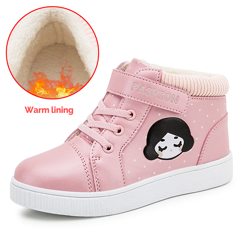 winter new Warm up  kids shoes for girl girls sneakers Short boots and cotton